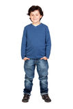 Child whit blue shirt Stock Image