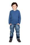 Child whit blue shirt Stock Image