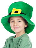 Child whit hat of Saint Patrick's Stock Photo