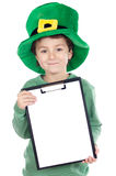 Child whit hat of Saint Patrick's Stock Photos