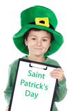 Child whit hat of Saint Patrick's Royalty Free Stock Images