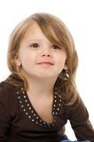 Child on white background Royalty Free Stock Image