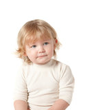 Child. White background. Clipping Path Royalty Free Stock Photos
