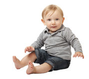 Child on white Royalty Free Stock Images