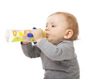 Child on white Stock Photo