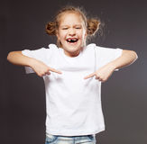 Child in white t-shirt Stock Images