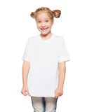 Child in white t-shirt Royalty Free Stock Images