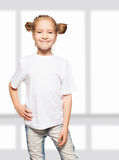 Child in white t-shirt Royalty Free Stock Image