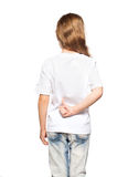 Child in white t-shirt Stock Photos