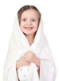 Child in white towel Royalty Free Stock Photos