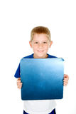 Child with Whiteboard Royalty Free Stock Image