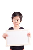 Child with whiteboard Stock Images
