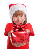 Child whith gift Stock Images