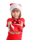 Child whith gift Stock Photos