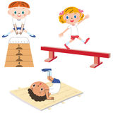 The child who exercises Stock Images