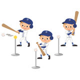 The child who practices the batting Stock Photography