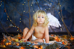 The child with wings of an angel 11 Royalty Free Stock Images