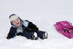 Child in winter Stock Photography