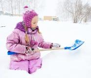 child winter 免版税库存图片