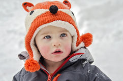 child winter Royaltyfria Bilder