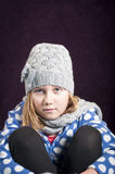 Child in winter clothing Stock Images