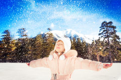 Child winter fun Stock Photography