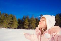 Child winter fun Royalty Free Stock Photos