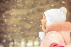 Child, winter, fun Stock Images