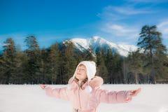 Child winter fun Stock Image