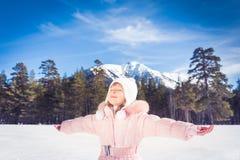 Child winter fun Stock Photography