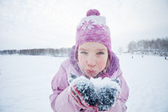 Child in winter Royalty Free Stock Photo