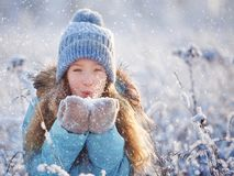 Child at winter Stock Images