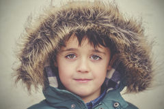 Child in winter hat Royalty Free Stock Photos