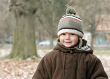 Child in winter park Royalty Free Stock Photography