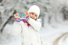 Child in winter Royalty Free Stock Photos