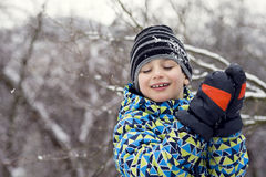 Child in winter Royalty Free Stock Photography