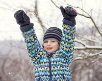 Child in winter Royalty Free Stock Images