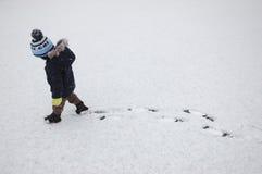 Child winter walk Stock Photos