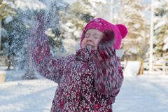 A child in a winter Royalty Free Stock Photography
