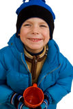 Child in winters clothing Stock Image