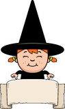Child Witch Banner royalty free illustration