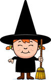 Child Witch Broom Royalty Free Stock Photography