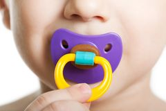 Free Child With Baby Pacifier Royalty Free Stock Image - 13833006