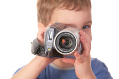 Child With Camcorder Stock Image