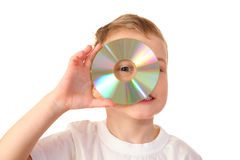 Child With Cd Royalty Free Stock Image