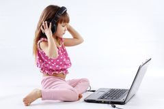 Child With Computer Stock Photos