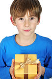 Child With Gift Box Royalty Free Stock Photography