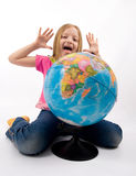 Child With Globe Stock Images