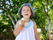 Free Child With Ice Cream Cone Royalty Free Stock Images - 57409949