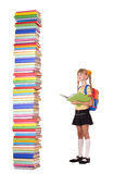 Child With Pile Of Books. Royalty Free Stock Image